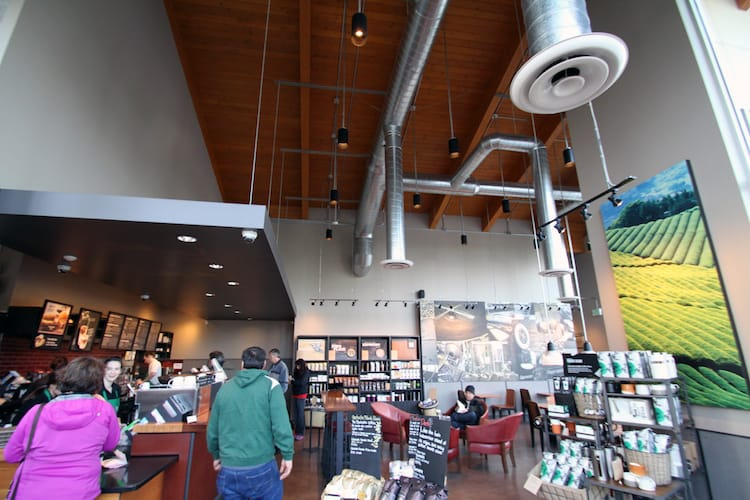 Starbucks Walls and Ceiling